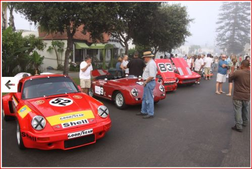 Race Cars drive through Coronado!