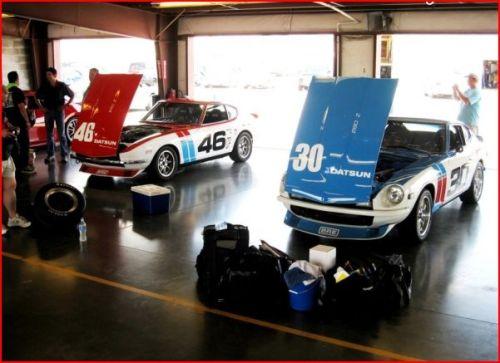 Dana & Ron's Z in the Garage at Nashville Motor Speedway