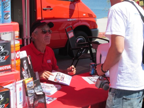John Morton at Motul Booth, JCCS 2010
