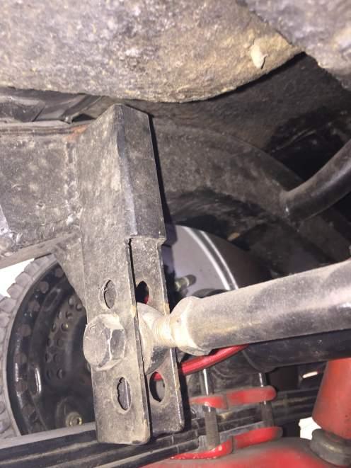 Panhard rod mount drivers side