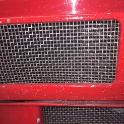 Mesh covering oil cooler